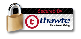 This website is secured by thawte, it's a trust thing.